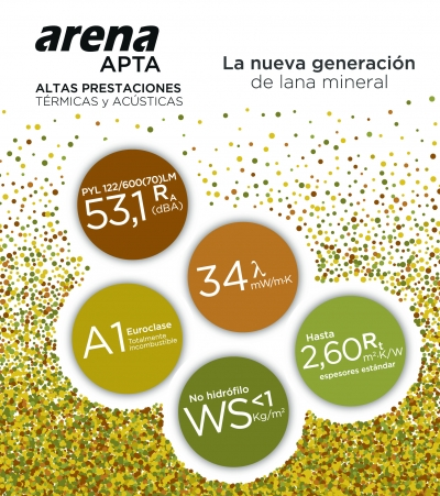 arena APTA: la nueva generación de lana mineral