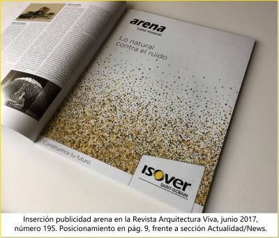 Inserción de original publicitario en la revista Arquitectura Viva, Nº 195 (junio 2017)
