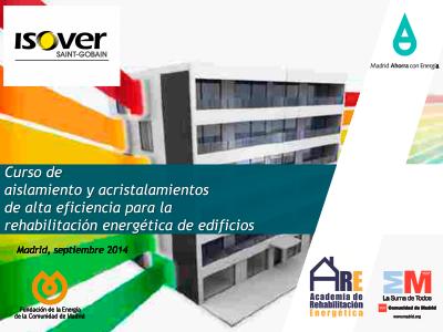 Curso de aislamiento y acristalamientos de alta eficiencia para la rehabilitación energética de edificios