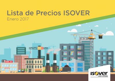 Portada Lista de Precios ISOVER Enero 2017