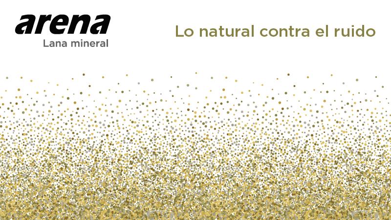 Lana mineral arena ISOVER, lo natural contra el ruido