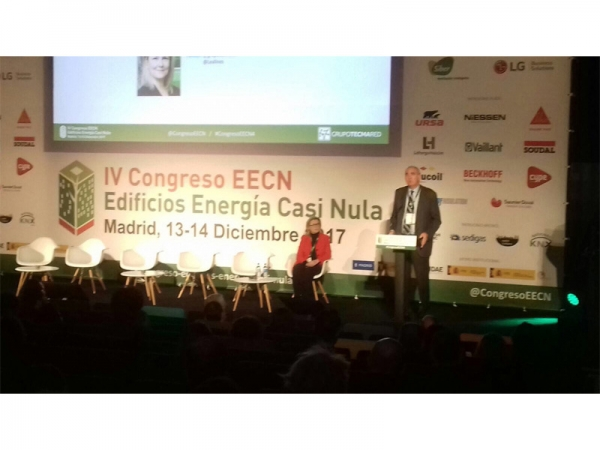 Inés Leal y Antonio Aguilar durante la inauguraciíón de la IV Edición del Congreso EECN. Madrid, 13 y 14 de diciembre 2017
