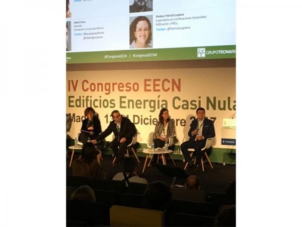 Ponentes Durante el Congreso de Edificios de Consumo Casi Nulo. Madrid 13 y 14 diciembre - Entre ellos Mariana Pérez, Directora de Habitar Sostenible