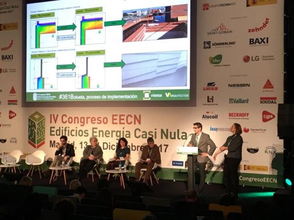 Ponentes Durante el Congreso de Edificios de Consumo Casi Nulo. Madrid 13 y 14 diciembre