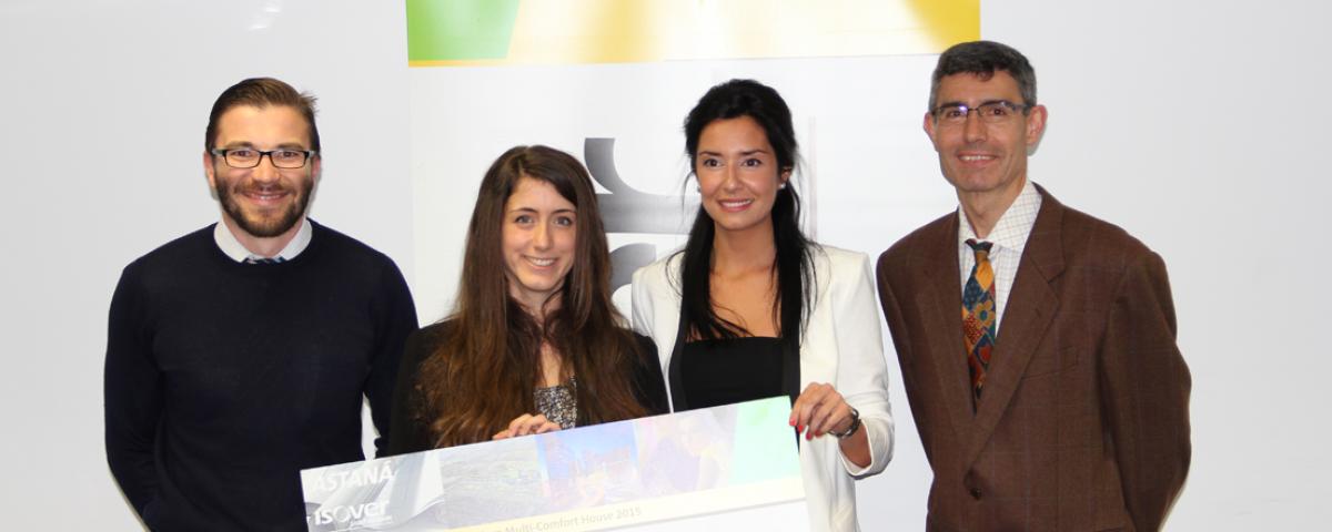 Ganadores Tercer Premio Fase Nacional Concurso Estudiantes Multi-Comfort House 2015