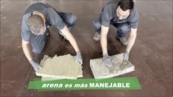 Aislamiento con Lana Mineral Arena - características: flexible, compacto y sis desperdicios