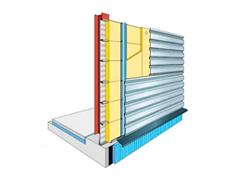 Cerramiento Vertical con Panel Sándwich In-Situ