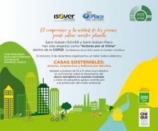 """ISOVER y Placo®, elegidos como """"Actores por el Clima"""" dentro de la COP25, participarán con el taller """"Casas Sostenibles"""" dirigido a jóvenes"""