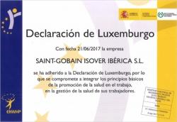 Declaración de Luxemburgo ISOVER