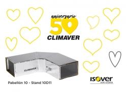 ISOVER presenta sus novedades y celebra el 50º Aniversario de CLIMAVER en C&R 2019