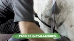 Aislamiento de tabiques con Lana Mineral Arena - Paso de instalaciones en tabiques