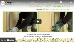Paso de instalaciones arena APTA vs. Lana Mineral tradicional