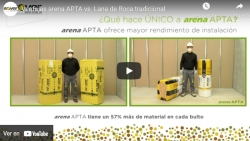 Ventajas arena APTA vs. Lana de Roca tradicional