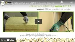 Paso de instalaciones arena APTA vs. Lana de Roca tradicional