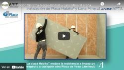 Instalación Sistema placa Habito® y Lana Mineral arena APTA