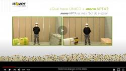 Vídeo aislamiento arena APTA ventajas de la nueva generación de Lana Mineral