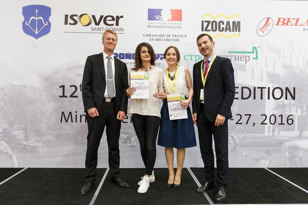 Ganadoras del Tercer Premio del Concurso Internacional Multi-Comfort House ISOVER 2016