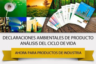Declaraciones ambientales de producto y análisis del ciclo de vida para productos de industria