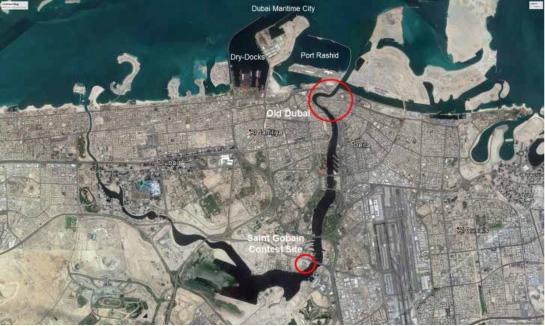 Ubicación de la zona propuesta para el Concurso. Fuente: Municipio de Dubai