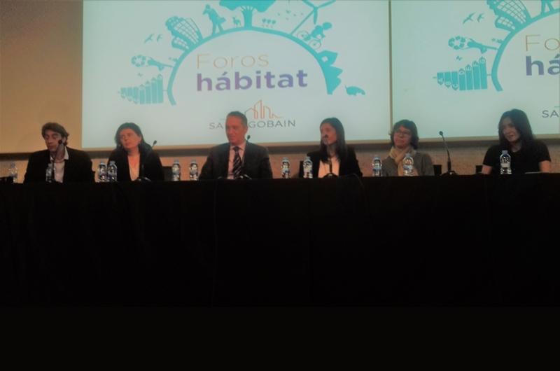 De izquierda a derecha, Félix de las Cuevas, Gianni Scotti, Manuela Carmena, Pierre-André de Chalendar y el embajador Yves Saint-Geours