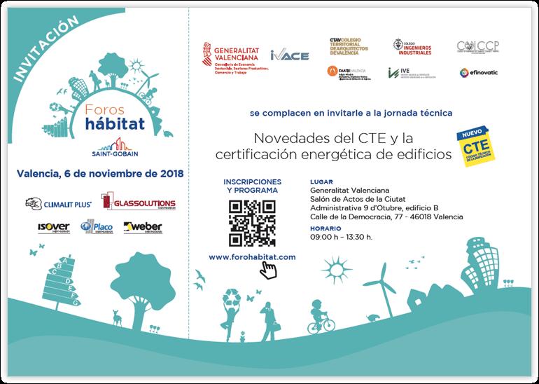 Invitación Foros Hábitat Valencia Noviembre 2018