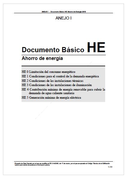 Documento Básico HE Ahorro de Energía