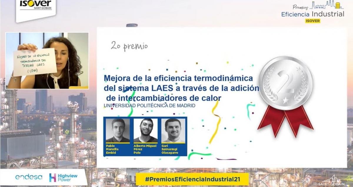 Ganadores de los Premios de Eficiencia Industrial 2021 ISOVER Segundo Premio