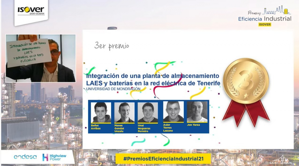 Ganadores de los Premios de Eficiencia Industrial 2021 ISOVER Tercer Premio